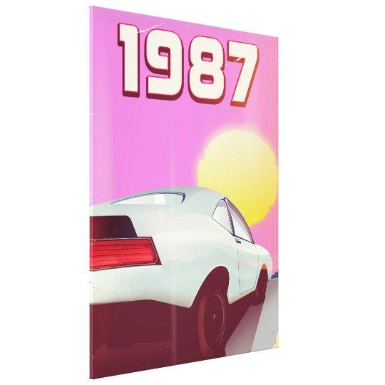1987 sportscar poster canvas print