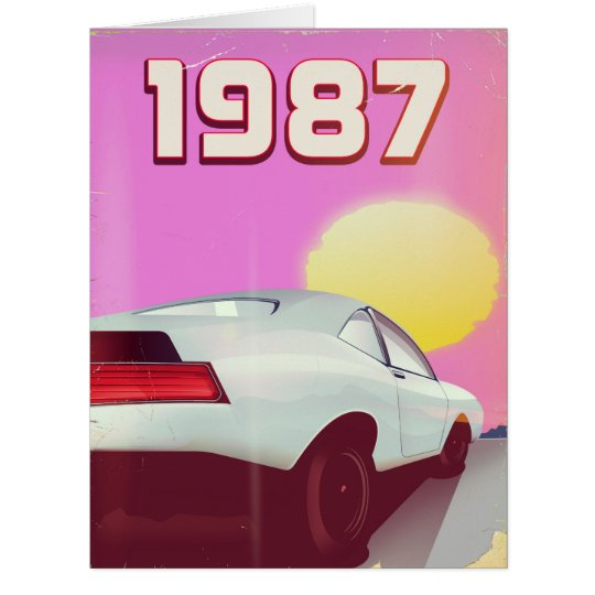 1987 sportscar poster card
