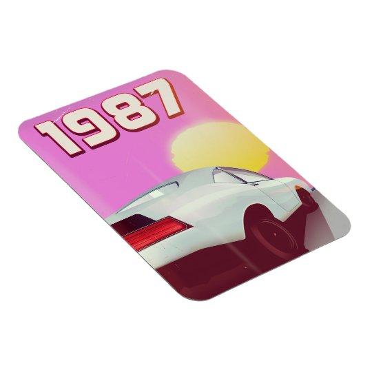 1987 sportscar poster magnet