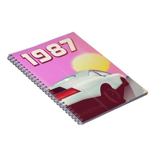 1987 sportscar poster notebook