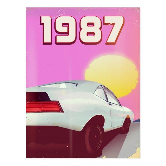 1987 sportscar poster postcard