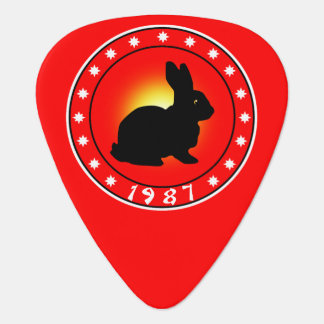 1987 Year of the Rabbit Guitar Pick