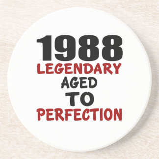 1988 LEGENDARY AGED TO PERFECTION BEVERAGE COASTERS