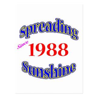 1988 Spreading Sunshine Postcard