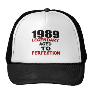 1989 LEGENDARY AGED TO PERFECTION TRUCKER HAT