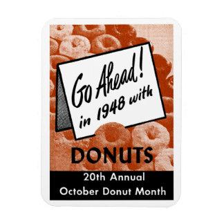 198 Donut Poster Rectangular Photo Magnet