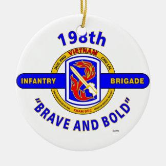 "198TH INFANTRY BRIGADE ""BRAVE AND BOLD"" VIETNAM CERAMIC ORNAMENT"