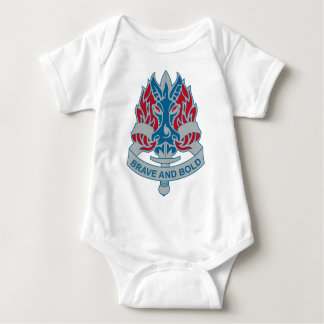 198th Infantry Brigade - DUI - Brave and Bold Baby Bodysuit