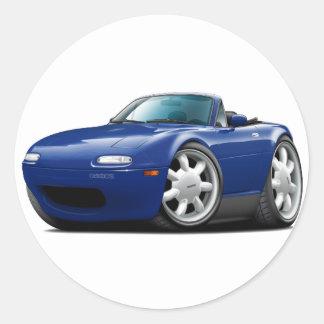1990-98 Miata Dk Blue Car Round Sticker
