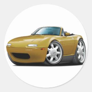 1990-98 Miata Gold Car Round Sticker