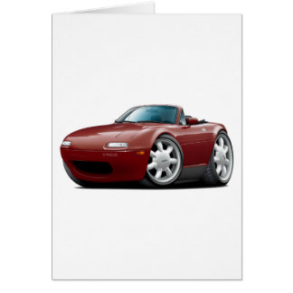 1990-98 Miata Maroon Car Card