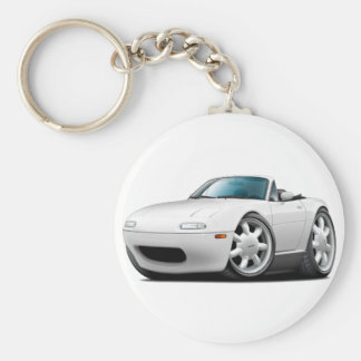 1990-98 Miata White Car Keychain
