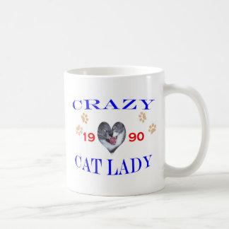 1990 Crazy Cat Lady Coffee Mug