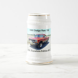 1990 Dodge Ram 150 Rod Hall Signature Edition #18 18 Oz Beer Stein
