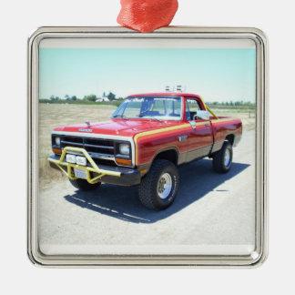 1990 Dodge Ram 150 Rod Hall Signature Edition #18 Silver-Colored Square Ornament