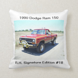 1990 Dodge Ram 150 Rod Hall Signature Edition #18 Throw Pillows
