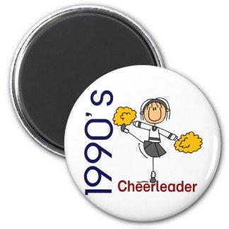 1990's Cheerleader Stick Figure Magnet