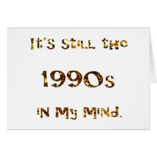 1990s Nostalgia Gold Glitter Card