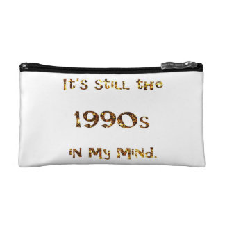 1990s Nostalgia Gold Glitter double-sided Makeup Bag
