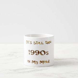 1990s Nostalgia Gold Glitter Espresso Cup