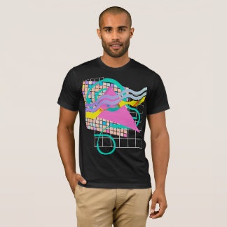 1992 Neon Pastel Grid Design T-Shirt