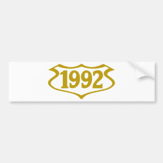 1992-shield.png bumper sticker