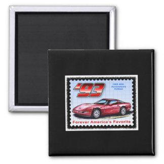 1993 40th Anniversary Corvette Square Magnet