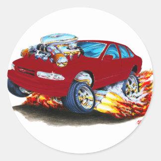 1994-96 Impala Maroon Car Classic Round Sticker