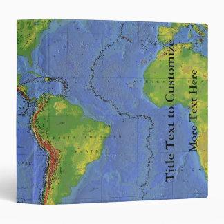 1994 Physical World Map - Tectonic Plates - USGS Vinyl Binder