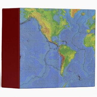 1994 Physical World Map - Tectonic Plates - USGS Binders
