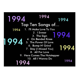 1994 Songs Postcard