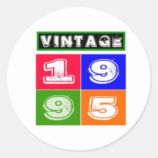 1995 Birthday Designs Sticker