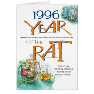 1996 Chinese Zodiac Rat Funny Birthday Card
