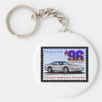 1996 Special Edition Corvette Basic Round Button Keychain