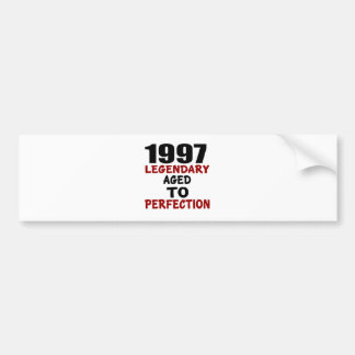 1997 LEGENDARY AGED TO PERFECTION BUMPER STICKER