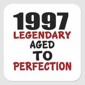 1997 LEGENDARY AGED TO PERFECTION SQUARE STICKER