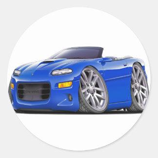 1998-03 Camaro SS Blue Convertible Classic Round Sticker