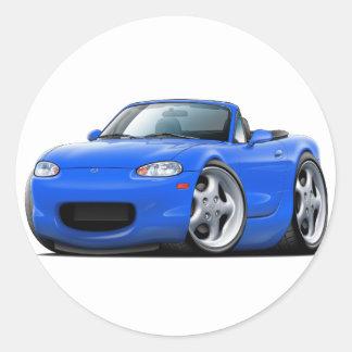 1999-05 Miata Blue Car Classic Round Sticker