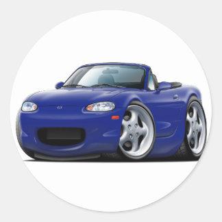 1999-05 Miata Dark Blue Car Round Sticker