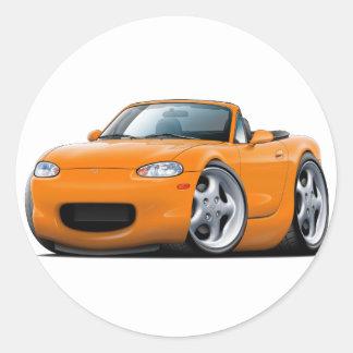 1999-05 Miata Orange Car Round Stickers