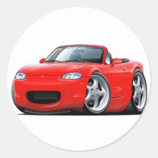 1999-05 Miata Red Car Round Sticker