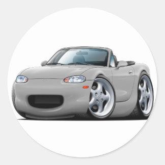 1999-05 Miata Silver Car Round Sticker