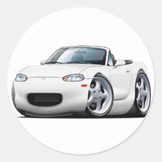 1999-05 Miata White Car Sticker