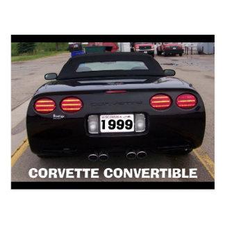 1999 CORVETTE CONVERTIBLE REAR VIEW POSTCARD