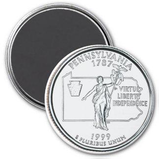1999 Pennsylvania State Quarter magnet