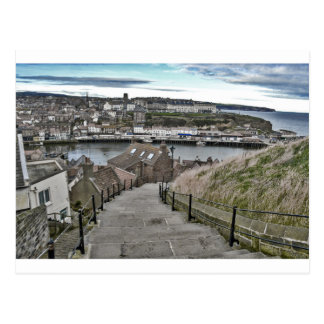 199 Steps Whitby Postcard