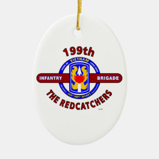 "199TH INFANTRY BRIGADE "" THE REDCATCHERS""VIETNAM CERAMIC ORNAMENT"