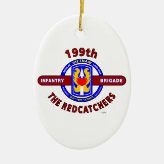 "199TH INFANTRY BRIGADE "" THE REDCATCHERS""VIETNAM CERAMIC OVAL ORNAMENT"