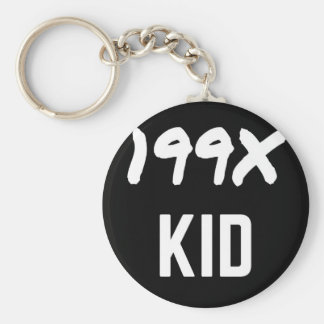 199X Ninety's Generation X Illustration Design Keychain