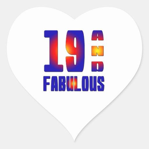 19 And Fabulous Heart Sticker